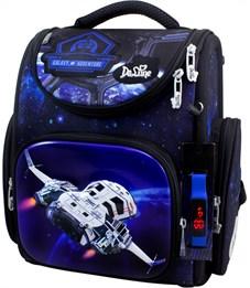 Ранец школьный DeLune Космолет 3-176 + мешок + часы
