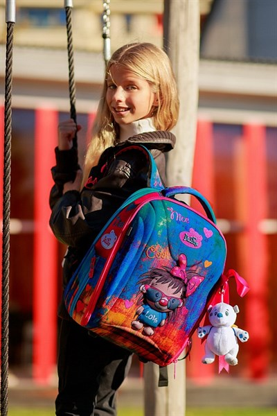 Ранец школьный DeLune 7mini-016 + мешок + пенал + мишка
