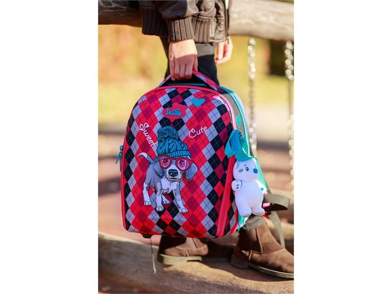 Ранец школьный DeLune 7mini-018 + мешок + пенал + мишка