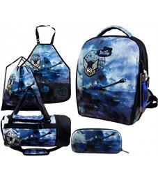 Ранец школьный DeLune 7mini-020 Full-set + мешок + пенал + сумка + фартук + часы