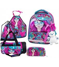 Ранец школьный DeLune 9-122 Full-set + мешок + пенал + сумка + фартук + мишка