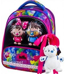 Ранец школьный DeLune 9-125 + мешок + пенал + мишка