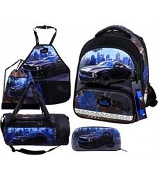 Ранец школьный DeLune 9-130 Full-set + мешок + пенал + сумка + фартук + часы