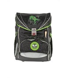Фото 2. Школьный ранец DerDieDas ErgoFlex Superlight Зеленый Динозавр с наполнением