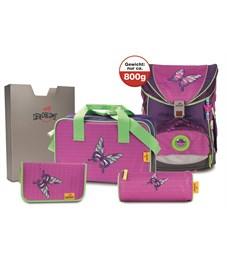 Школьный ранец DerDieDas ErgoFlex Розовая Бабочка с наполнением