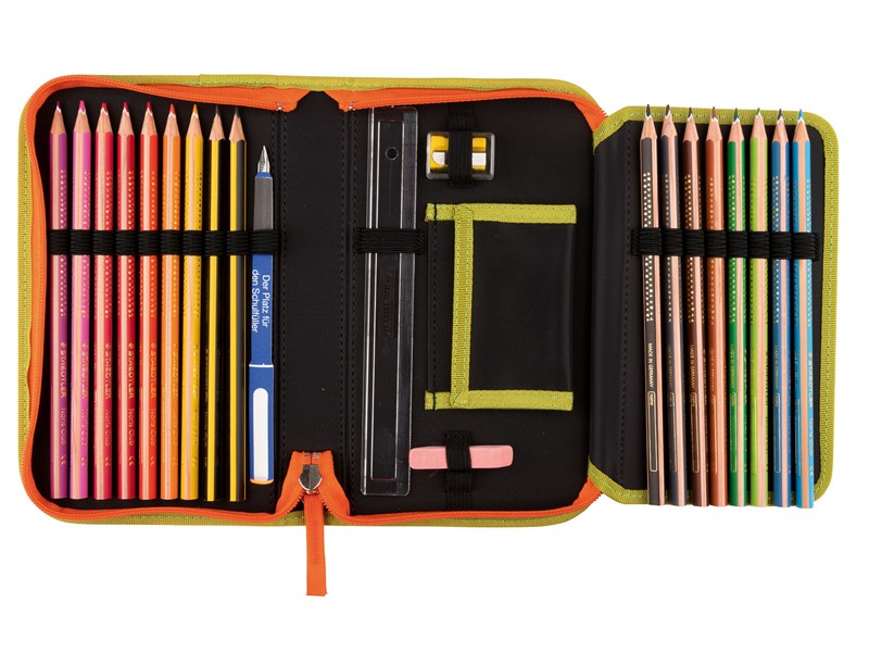 Школьный ранец DerDieDas Exklusiv Switch Patch Сафари с наполнением 7 предметов