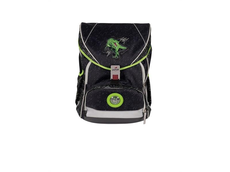 Школьный ранец DerDieDas ErgoFlex XL Зеленый Динозавр с наполнением