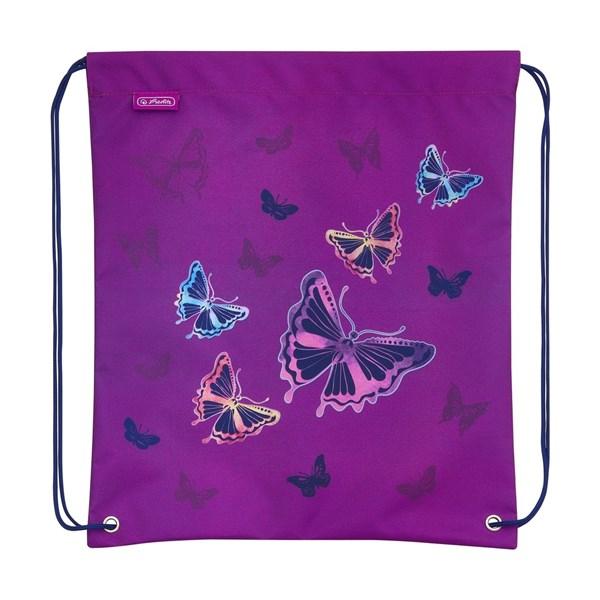 Ранец школьный Herlitz Loop Plus Glitter Butterfly с наполнением