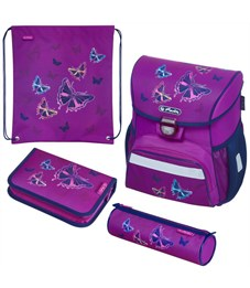 Ранец школьный Herlitz Loop Plus Glitter Butterfly с наполнением