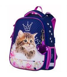 """Ранец Berlingo Expert """"Princess cat"""" 37*28*16 см, 2 отделения, 2 кармана, анатомическая спинка"""