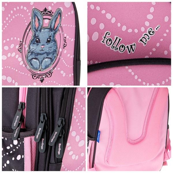 """Ранец Berlingo облегченный Flash """"Sweet bunny"""" 37*28*15 см, 2 отд, 3 кармана, анатомическая спинка"""