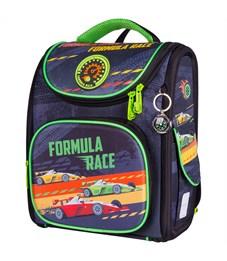 "Ранец с наполнением Berlingo Ultra Compact ""Formula race"" 35*30*15см, 1отд.,3 карм.,анатомич. спинка"