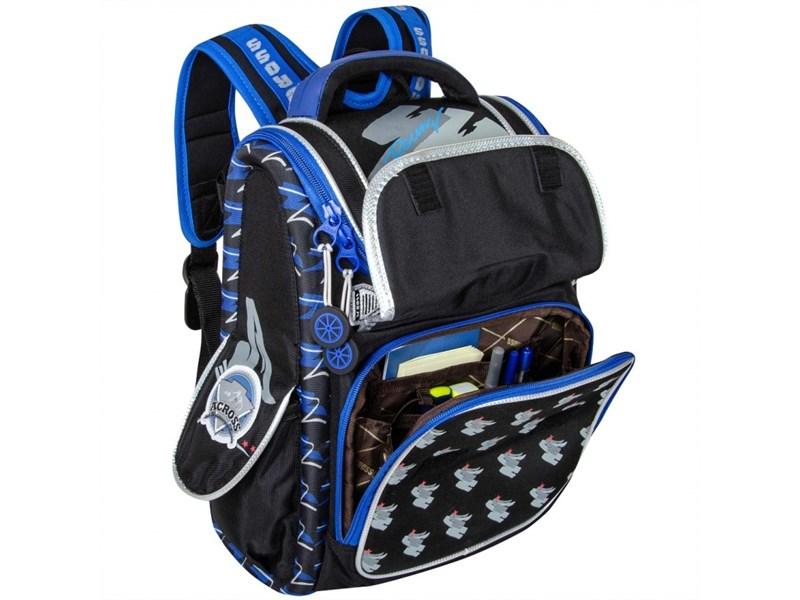 Ранец школьный Across ACR18-195A-3 с мешком для обуви