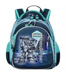 Ранец школьный Across ACR18-203-1 с мешком для обуви