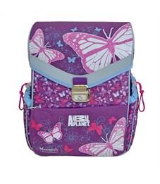 Ранец школьный Action! Animal Planet Бабочки фиолетовый