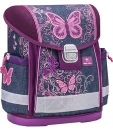 """Ранец школьный Belmil CLASSY """"Purple Flying Butterfly"""" с наполнением"""