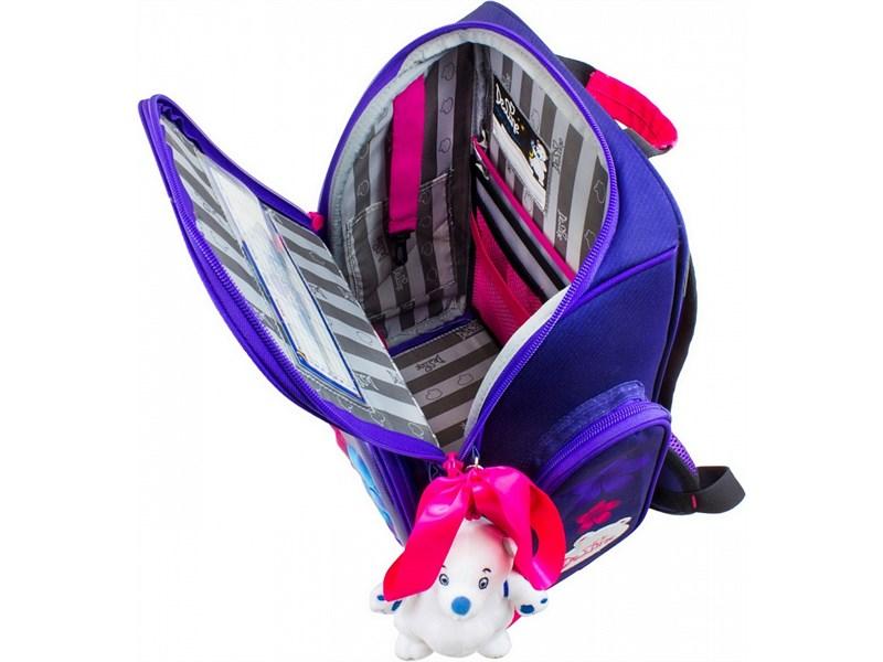 Ранец школьный DeLune Цветы 6-117 + мешок + мишка