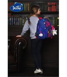 Фото 8. Ранец школьный DeLune Цветы 6-117 + мешок + мишка