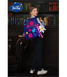 Фото 9. Ранец школьный DeLune Цветы 6-117 + мешок + мишка