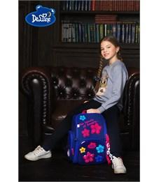 Фото 10. Ранец школьный DeLune Цветы 6-117 + мешок + мишка