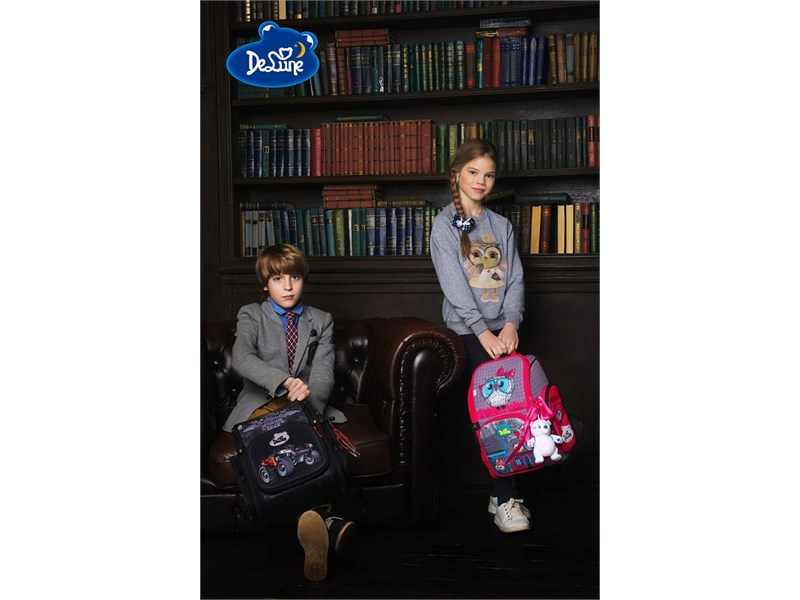 Ранец школьный DeLune Джип 6-121 + мешок + часы