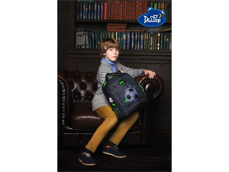 Ранец школьный DeLune Футбол 7mini-007 + мешок + пенал + часы