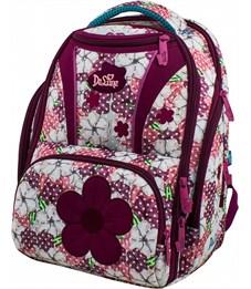 Фото 1. Ранец школьный DeLune Цветы 8-102 + мешок