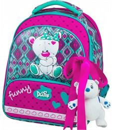 Ранец школьный DeLune Мишка 9-112 + мешок + пенал + мишка
