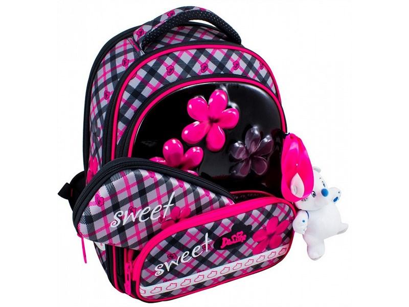Ранец школьный DeLune Цветы 9-113 + мешок + пенал + мишка