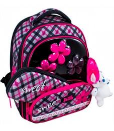 Фото 2. Ранец школьный DeLune Цветы 9-113 + мешок + пенал + мишка