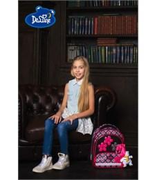 Фото 11. Ранец школьный DeLune Цветы 9-113 + мешок + пенал + мишка