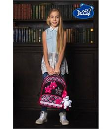 Фото 12. Ранец школьный DeLune Цветы 9-113 + мешок + пенал + мишка