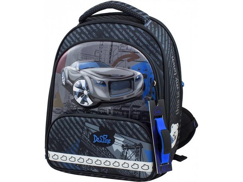 Ранец школьный DeLune Машина 9-119 + мешок + пенал + часы