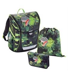 Ранец школьный Hama BaggyMax Fabby Green Dino 3 предмета