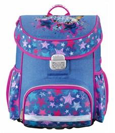 Ранец школьный Hama Crazy cat синий/розовый