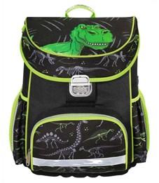 Ранец школьный Hama Dino черный/зеленый