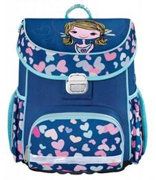 Ранец школьный Hama Lovely girl синий/голубой