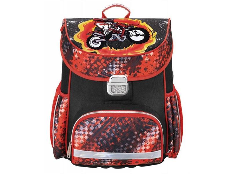 Ранец школьный Hama Motorbike красный/черный
