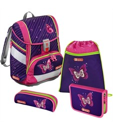 Ранец школьный Hama Step By Step 2in1 Shiny Butterfly с наполнением