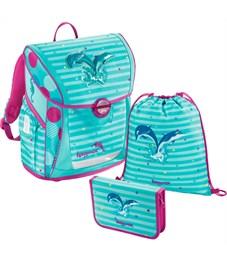 Ранец школьный Hama Step By Step BaggyMax Fabby Dolphin с наполнением