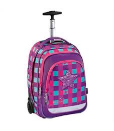 Ранец школьный Hama Step By Step BaggyMax Trolley Pink Star на колесах