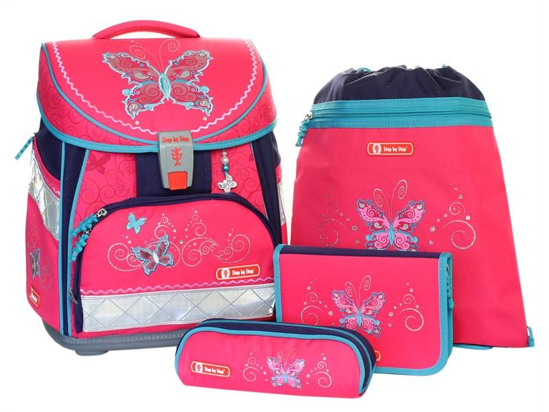 e6600e32c1f2 Ранец школьный Hama Step by Step Comfort Butterfly Dancer с наполнением, 4  предмета ...