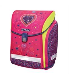 Фото 3. Ранец школьный Herlitz NEW Midi Plus Pink Hearts с наполнением