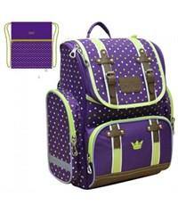 Ранец школьный Mike Mar Оксфорд фиолетовый/зеленый + мешок