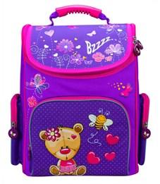 Ранец школьный Silwerhof Bear фиолетовый - малиновый