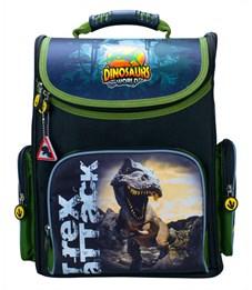 Ранец школьный Silwerhof Dinosaur черный - зеленый