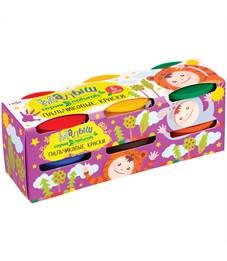 """Краски пальчиковые Гамма """"Малыш naturals"""", 06 цветов, 90г, картон"""