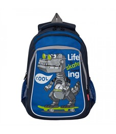 RB-052-2 Рюкзак школьный (/1 синий)