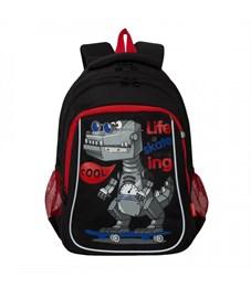 RB-052-2 Рюкзак школьный (/2 черный)