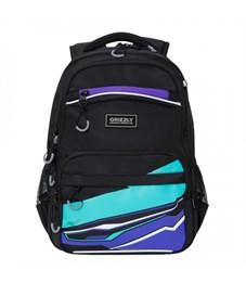 RB-054-2 Рюкзак школьный (/1 черный - фиолетовый)